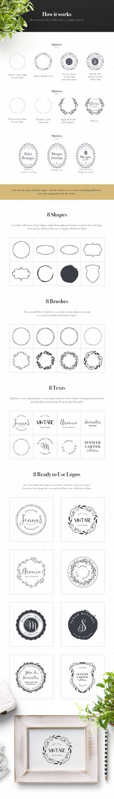 Today we have for you a logo design kit that will help you create gorgeous invitations, labels, apparel, and branding...