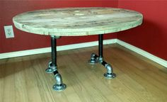 Industrial coffee table spool table plumbing by RusticStyle4You, $249.00