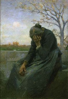 Giuseppe Mentessi, Despairing Woman (Gloria triptych right panel detail), 1901