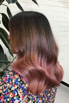 """The Raddest Way To Wear Colorful Hair Right Now #refinery29  http://www.refinery29.com/pink-hair-dye-rose-color-photos#slide-4  """"The biggest trend for colored hair right now is definitely anything pastel — mainly pinks, rose gold, and peach,"""" Ackerman reports. Keep the pink tones rooted in peach, not violet, to keep the look modern, she says, then opt for a color melt to ease the grow-out pains.This look requires some..."""