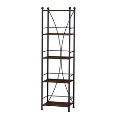Style Selections�Baylor 56.25-in H x 16.25-in W x 13-in D Auburn Floor Standing Shelf**$80 LOWES