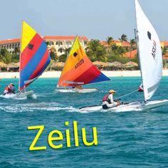 Sail | Nan ta zeilu - They are sailing! Visit: henkyspapiamento.com #papiamentu #papiaments #papiamento #language #aruba #bonaire #curaçao #caribbean #sail #zeilen #vela #velejar