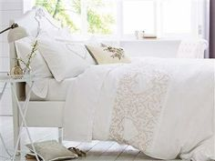 Buy Dainty Embroidered Heart Bed Set from the Next UK online shop Kohls Bedding Sets, Bedding And Curtain Sets, Cheap Bedding Sets, Bedding Sets Online, King Bedding Sets, Beautiful Living Rooms, Beautiful Bedrooms, Linen Bedroom, Bedding Websites