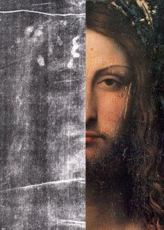 Comparison between the image on the Shroud of Turin and Leonardo da Vinci's Salvator Mundi