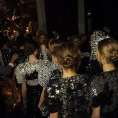 Sparkly details backstage - Dolce and Gabbana