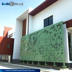 BuildDirect Africa - Africa's First and Biggest Laser Cut Building Addition Manufacturer Metal Fence Panels, Garden Fence Panels, Metal Facade, Steel Panels, Laser Cut Screens, Laser Cut Panels, Decorative Screen Panels, Building An Addition, Wrought Iron Fences