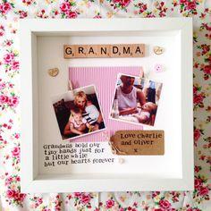 Grandma Frame- personalised scrabble photo frame for Nana, Nanny, Nannie, Nan, Grandma, Great Nana