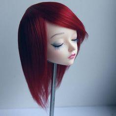 Feeple60 fairyland sd wig cherry red burgundy handmade acrylic