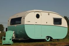 Not vintage .. Brand new.. But isn't it Beautiful? |  tiny trailer - vintage camper - caravan <O>