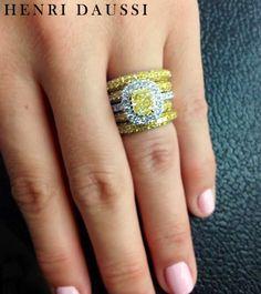 Henri Daussi yellow diamond ring.