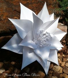 Paper Flowers - Wall Flowers - Wedding Table Decor - Handmade Extra Large Paper Flower - Made To Order. $25.00, via Etsy.