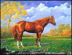 Sporting Art: Secretariat As A Stallion, by Jenness Cortez