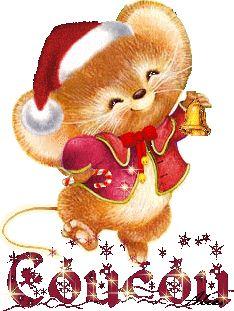 Bonjour - Souris - Gif animé - Noël 2015 - Gratuit Christmas Clipart, Vintage Christmas Cards, 1st Christmas, Christmas Printables, Christmas Pictures, Christmas And New Year, Christmas Crafts, Mouse Illustration, Hallmark Cards