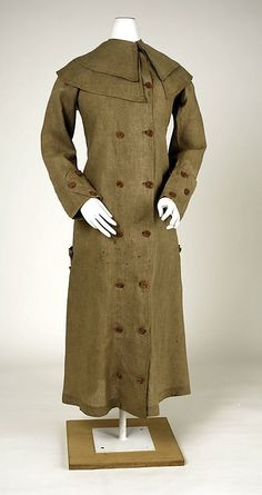 Alexandra, Act 2-Linen duster coat ca. 1910 | Women's Fashion: Prim & Proper | Pintere…