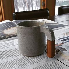 Handmade Ceramic, Coffee Maker, My Etsy Shop, Handle, Ceramics, Mugs, Wood, Coffee Maker Machine, Hall Pottery