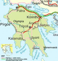 Map of world mythology map of greece map of greece world map map of the peloponnese gumiabroncs Images