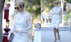 Ivanka, 35, was spotted stepping out of her Washington, D.C. home on Wednesday morning. She wore an Oscar de la Renta top worth$2,070 and a skirt that costs $2,890.