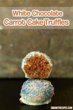White Chocolate Carrot Cake Truffles
