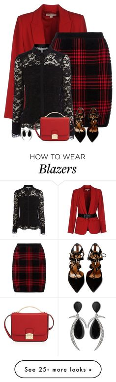 """black & red"" by divacrafts on Polyvore featuring MICHAEL Michael Kors, Alexander Wang, Henri Bendel, Aquazzura and Original"