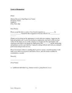 on job 2 week notice letter template printable