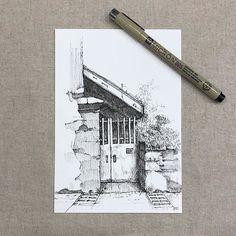 The House. . #oldthings #inklife #creativity #design #drawing #illustration #sketch #sketchbook #sketching #artwork #handdrawn #inkdrawing #penandink #micronpen #pendrawing #lineart #linework #penart #blackpen #inkonpaper #penwork #fineliner #linedrawing #lineart #blackwork #inkstagram #tempuradesign #inkfeature #architecture