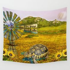 Wind Punk Eclipse Wall Tapestry by crismanart Wall Tapestries, Wall Hangings, Tapestry, Tablecloths, Outdoor Walls, Hand Sewn, Vivid Colors, Favorite Color