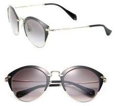 Miu Miu 52MM Metal Phantos Sunglasses - $385.00