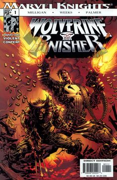 Wolverine/Punisher #1, May 2004, cover by Mike Deodato Jr and Hermes Tadeo