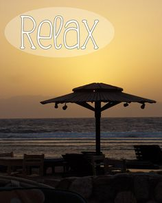 "Inspirational Poster – 8 x 10 Wall Art Print – Inspirational Quote ""Relax"" – Sunset Seascape Beach Travel Photography - INSTANT DOWNLOAD #inspirational #printableposter #bindercover #lockerposter #naturephotography"