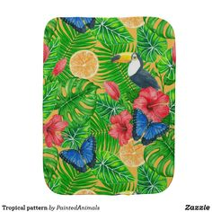 Keep your shoulder clean while burping your child thanks to Zazzle's burp cloths. Baby Shower Gifts, Baby Gifts, Baby Burp Cloths, Gifts For New Parents, Tropical Pattern, Baby Safe, Baby Patterns, Baby Accessories, Soft Fabrics
