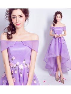 2017 A-line Off-the-shoulder High Low Prom Drsess Homecoming Dresses SKY658