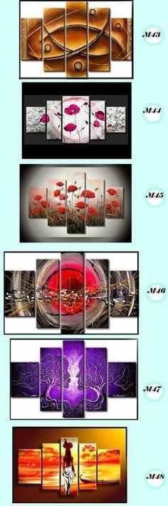 Cuadros Pintados A Mano Tripticos Moderno Oleo Personalizado - $ 898,00 en MercadoLibre