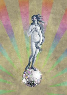 A modern pop version of the classic Botticelli Venus