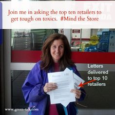 Mind the Store. Retailers, Sell Products Sans +100 Hazardous Chems.  Sign the letter.  Please Repin!