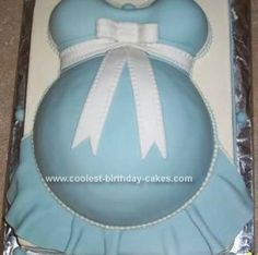 Baby belly cake with a little elegance :-)