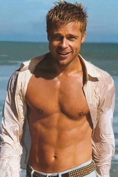 Brad Pitt before Angelina Joilie came along and broke up his marriage to Jennifer Aniston.. He was far better looking back then! ;-)