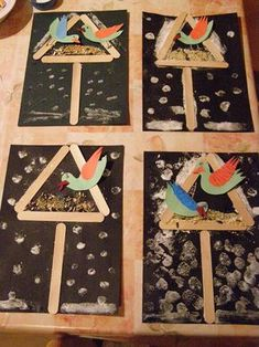 Most up-to-date No Cost spring Crafts for Kids Thoughts Usually there are some really easy products intended for kids. Winter Art Projects, Winter Project, Winter Crafts For Kids, Spring Crafts, Art For Kids, New Year's Crafts, Bird Crafts, Animal Crafts, Arts And Crafts