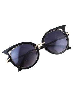 lunettes style de chat -Noir Óculos De Sol Do Olho De Gato, Sunnies, bad9963291