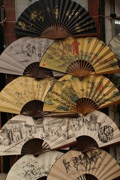 You can never have too many fans.......http://www.pinterest.com/sherylmyersroch/greeting-fans-/