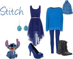 """Stitch - Lilo and Stitch"" by disney-inspired-outfits ❤ liked on Polyvore"