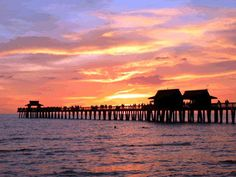 Sunset on the gulf in Naples, Florida