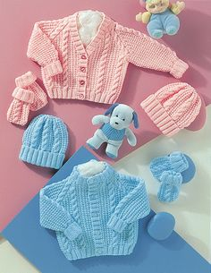 Vintage Knitting Pattern PDF Baby Cable Pram Sets Cardigan Jacket Beanie Hat and Mitts Includes Premature Sizes Baby Cardigan Knitting Pattern Free, Baby Boy Knitting Patterns, Baby Sweater Patterns, Knitted Baby Cardigan, Knit Baby Sweaters, Knitted Baby Clothes, Baby Knits, Pram Sets, Pull Bebe