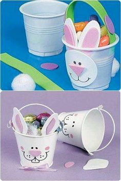 Easter favors for school - Einrichtungsstil Diy Craft Projects, Diy And Crafts, Paper Crafts, Bunny Crafts, Easter Crafts For Kids, Happy Easter, Easter Bunny, Easter Activities, Diy Décoration