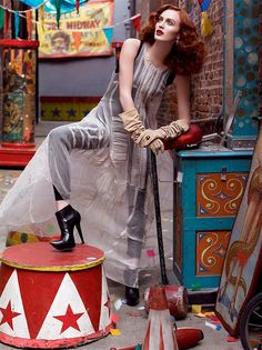 circus inspired fashion editorial
