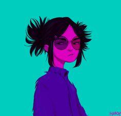 fanart noodle gorillaz | Tumblr