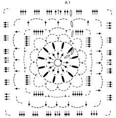 """Winter Crystal / DROPS 171-53 - Couverture DROPS au crochet, composée de carrés, en """"Eskimo"""". - Free pattern by DROPS Design"""
