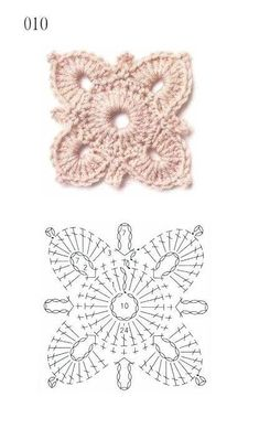 How to Crochet a Solid Granny Square - Crochet Ideas Crochet Earrings Pattern, Crochet Motif Patterns, Granny Square Crochet Pattern, Crochet Diagram, Crochet Squares, Crochet Chart, Love Crochet, Irish Crochet, Crochet Flowers