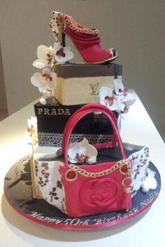 Louis Vuitton  Prada  Gucci ... birthday cake ! by Bistra Dean