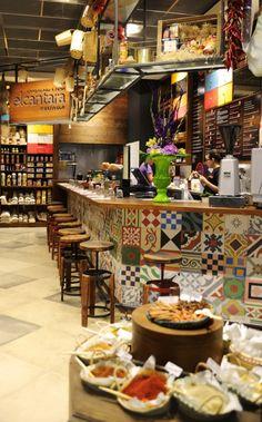 El Cantara (Stratford, UK) | designLSM | Shortlisted for Best UK Restaurant or Bar in a Retail Space | 2012 Restaurant and Bar Design Awards... #tiles