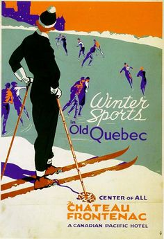 Winter Sports in Old Quebec   The Chateau Frontenac
